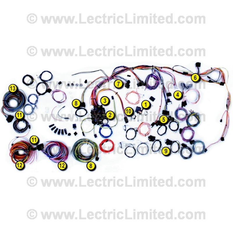 classic update series wiring harness system 500686 lectric 500686 92965970 classic update series wiring harness system