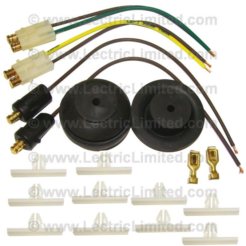 classic update series wiring harness light kit 500999 lectric limited