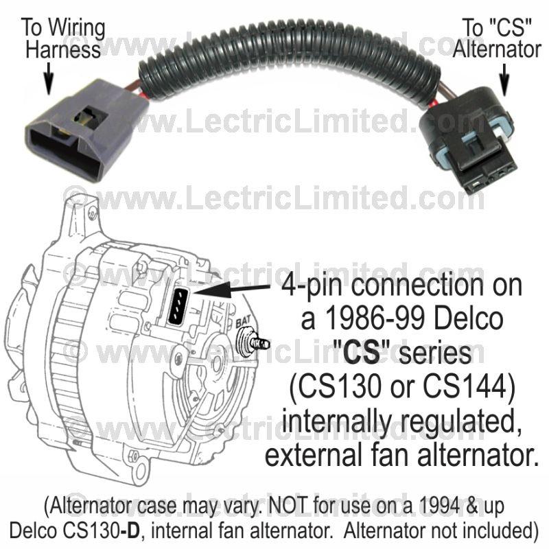 restomod series alternator conversion harness vak6986cs Cooling Fan Wiring Harness