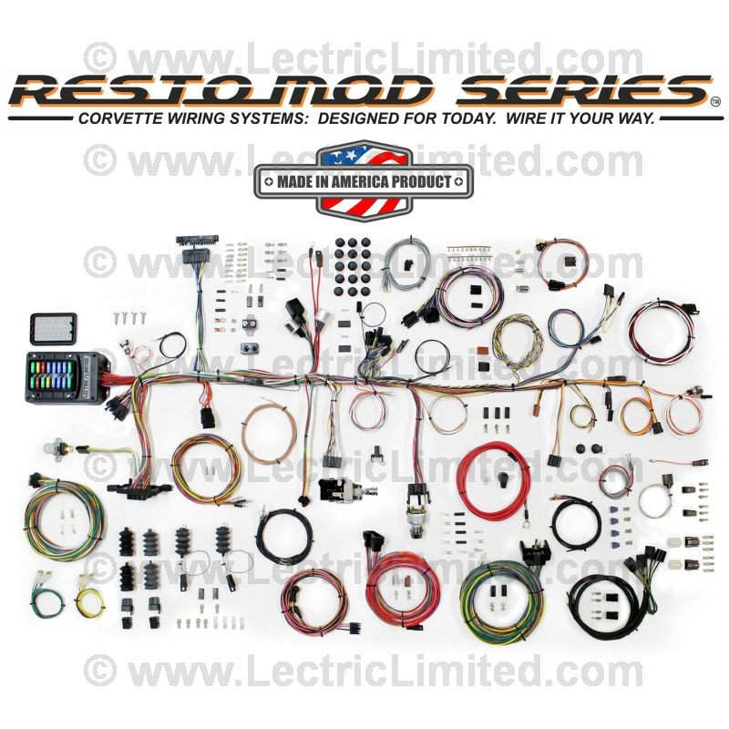 restomod series wiring harness system vcu6367 lectric limited