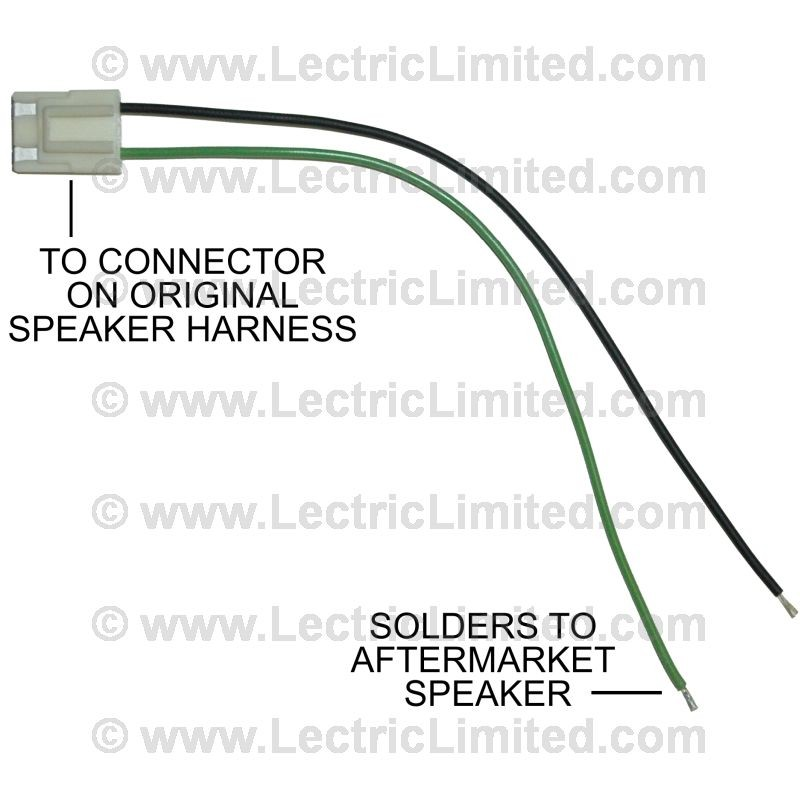speaker adapter lead wires