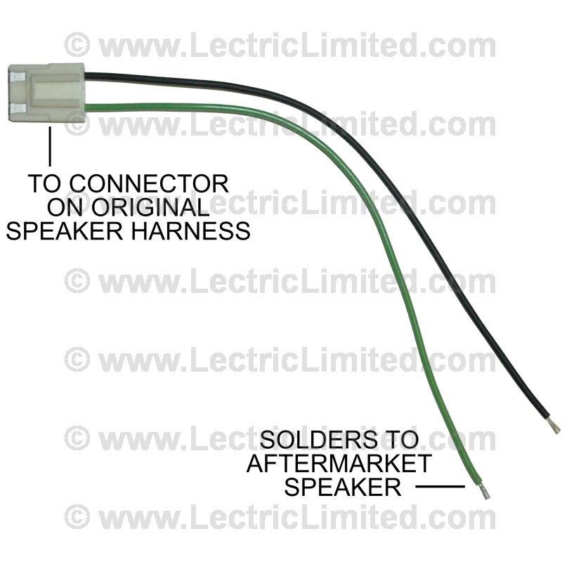speaker adapter lead wires