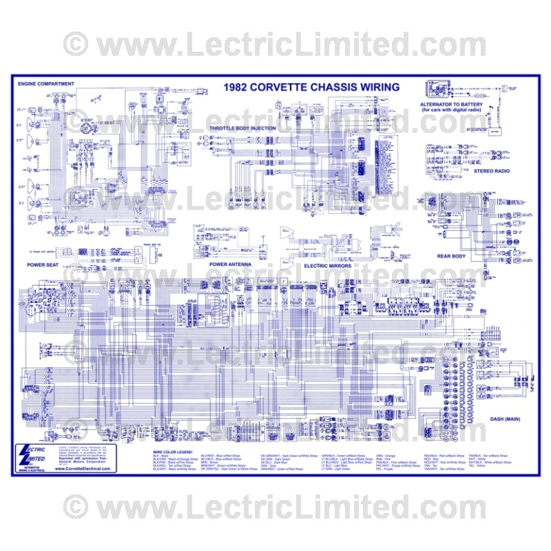 VWD8200 wiring diagram vwd8200 lectric limited 1960 corvette wiring diagram at aneh.co