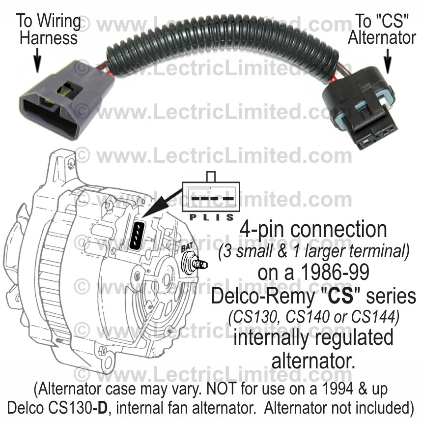 alternator conversion harness, part #vak6986cs