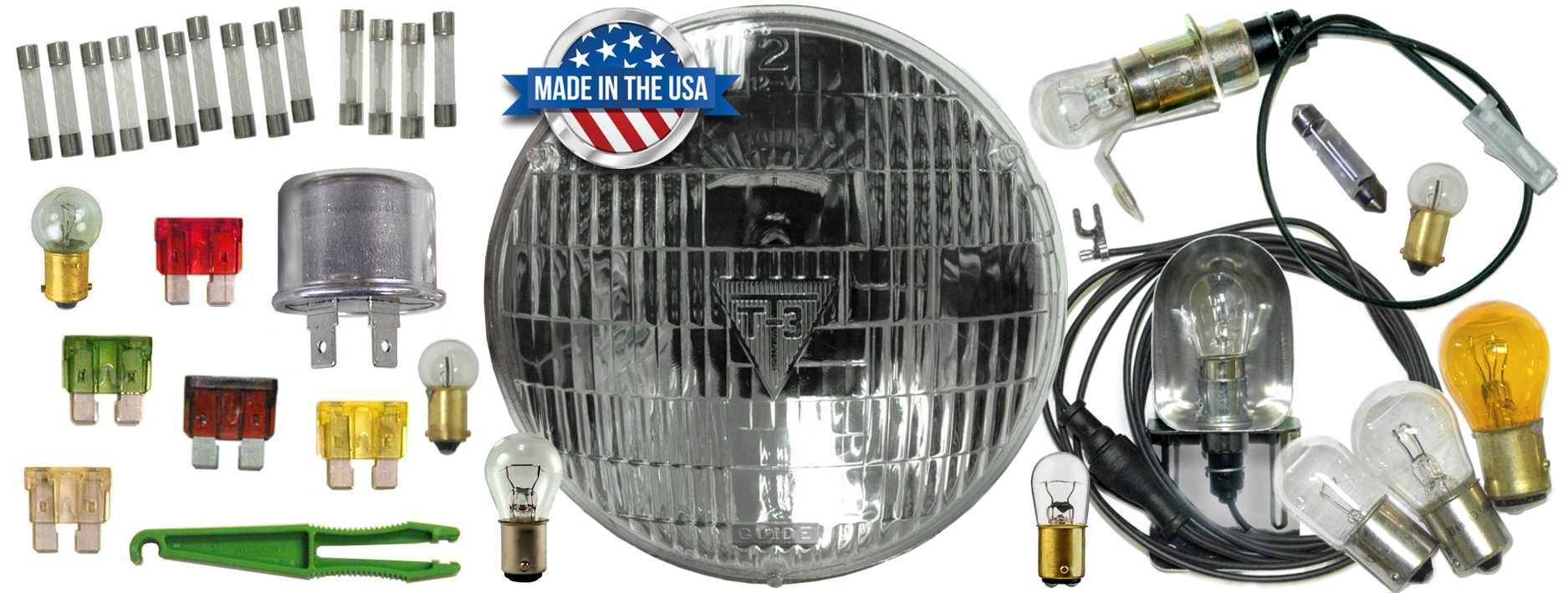 T3 T-3 Headlight Bulbs and Lighting for Classic cars