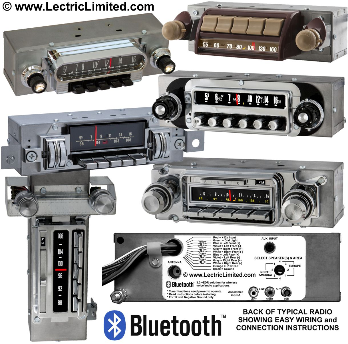 Authentic Looking AM FM Bluetooth Radios