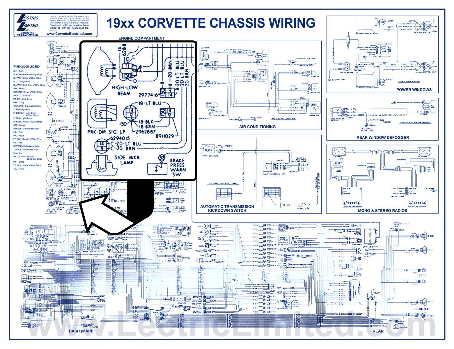 1967 Corvette Dash Wiring Schematic Best Electrical Circuit 1968 Harness Miscellaneous Products Rh Lectriclimited Com 1974 Schematics