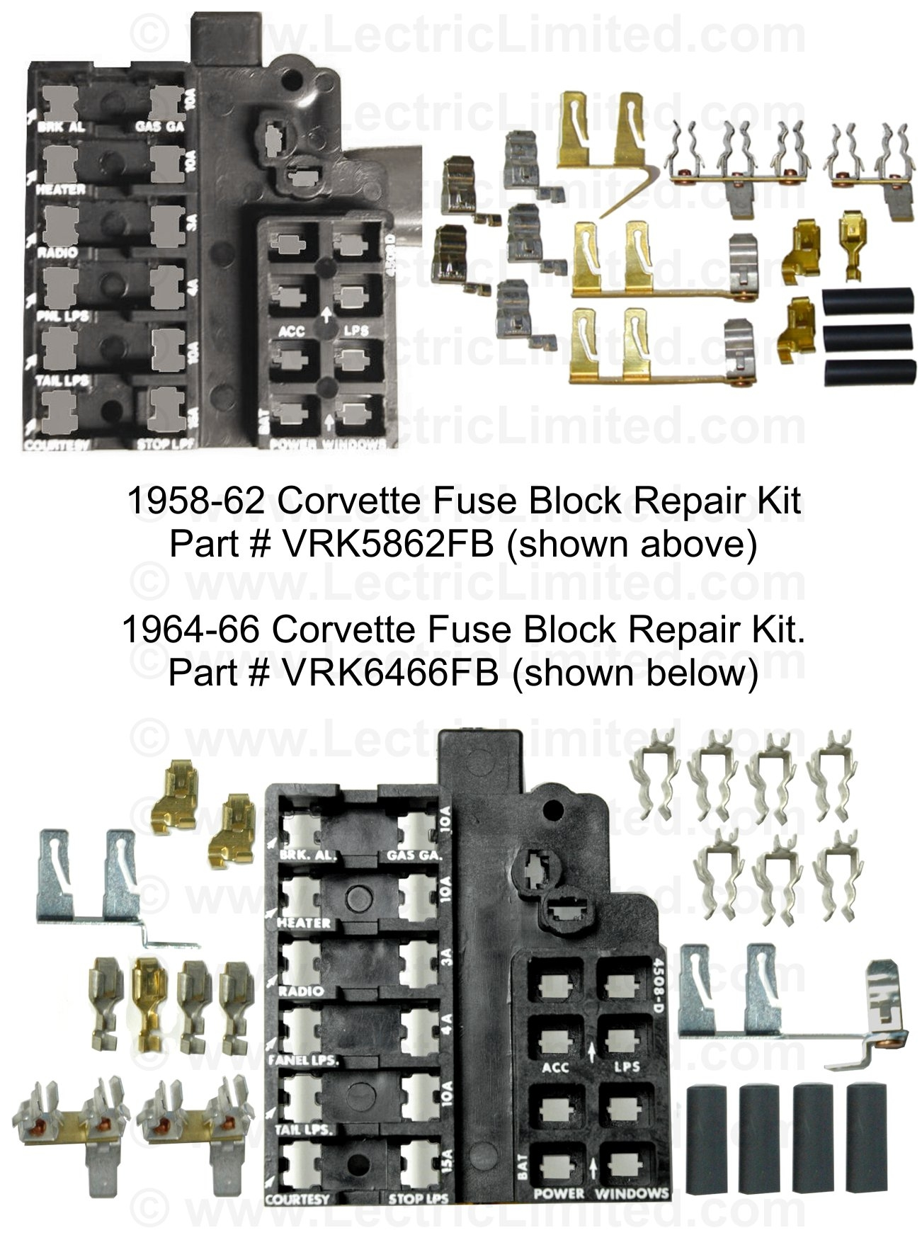 1967 corvette fuse box repair components