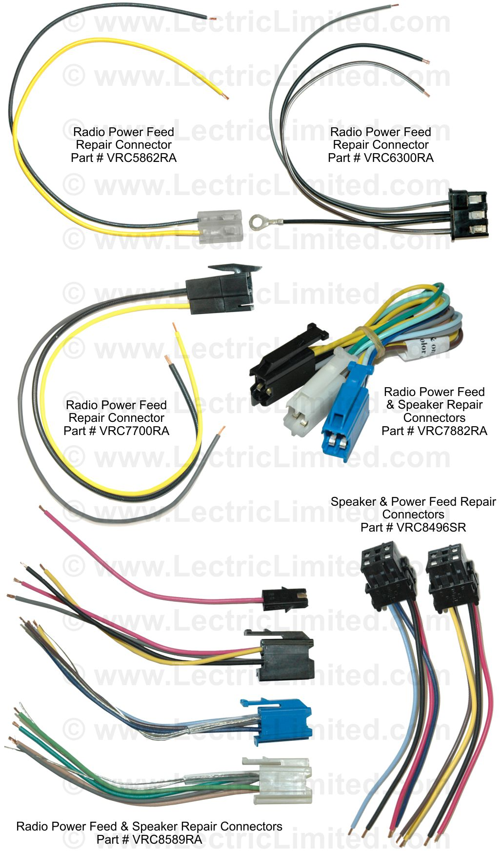 Repair Components You Are Here Home Wiring Harness Kits For Old Cars Radio Speaker Connector Pigtails