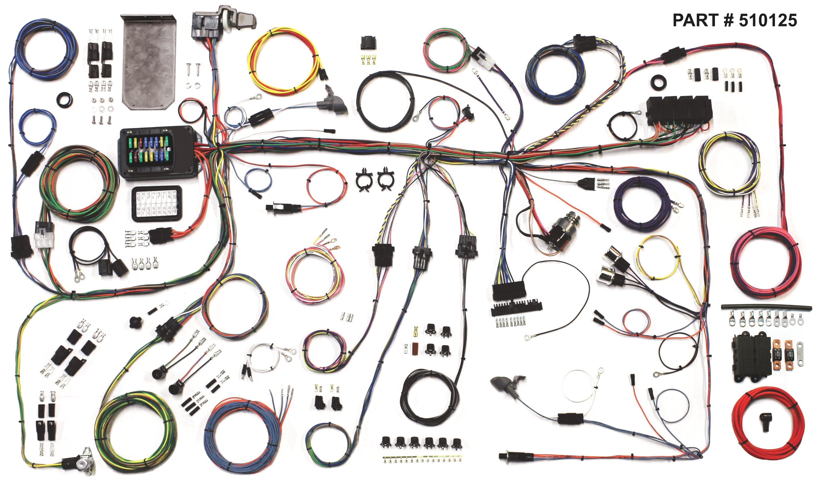 1966 Mustang Wiring Harness Diagrams Schematic 1964 Malibu Diagram Ford Restomod System 1972 66
