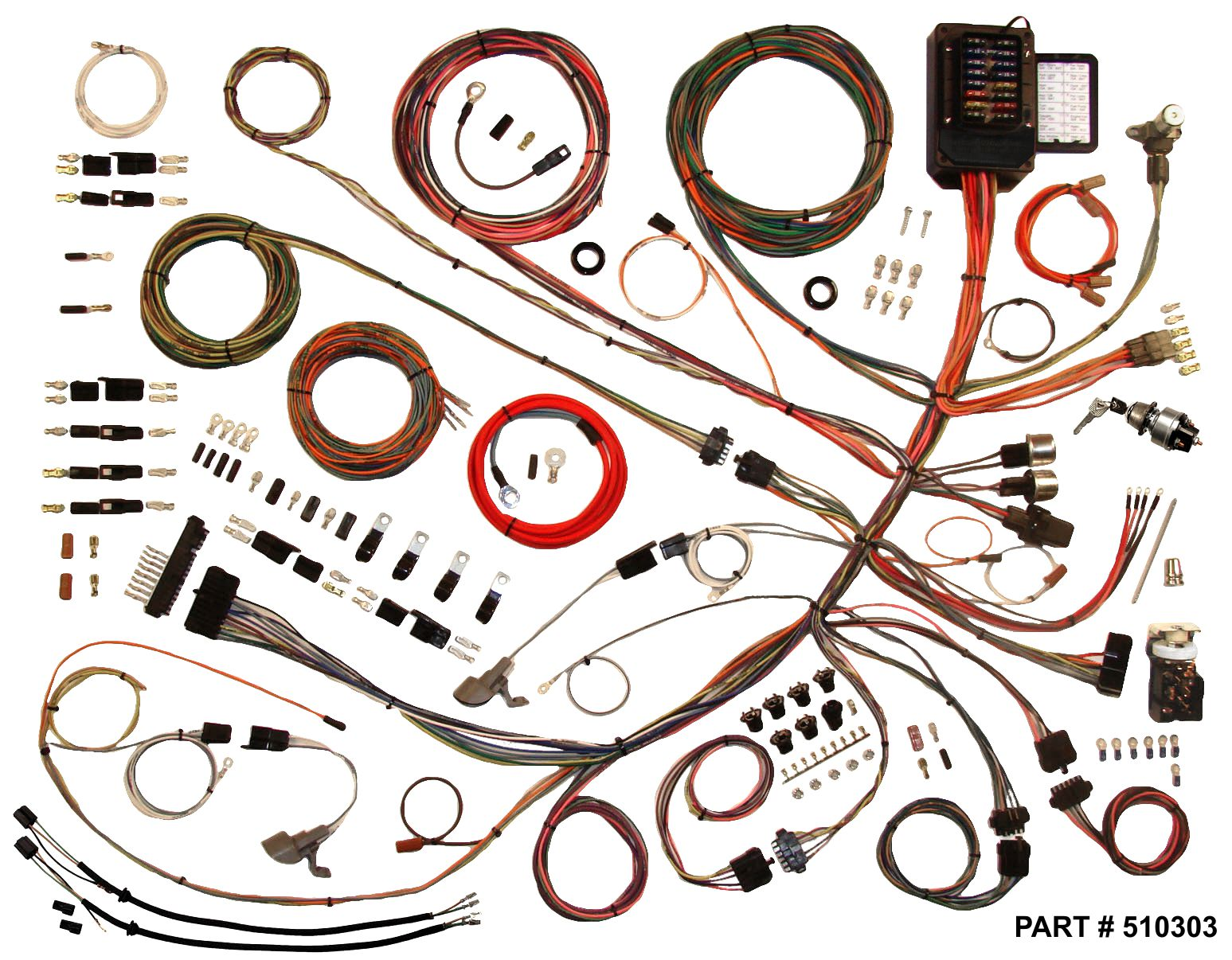 1953 - 1956 ford f100 trucks restomod wiring system ford f100 wiring harness diagrams #9