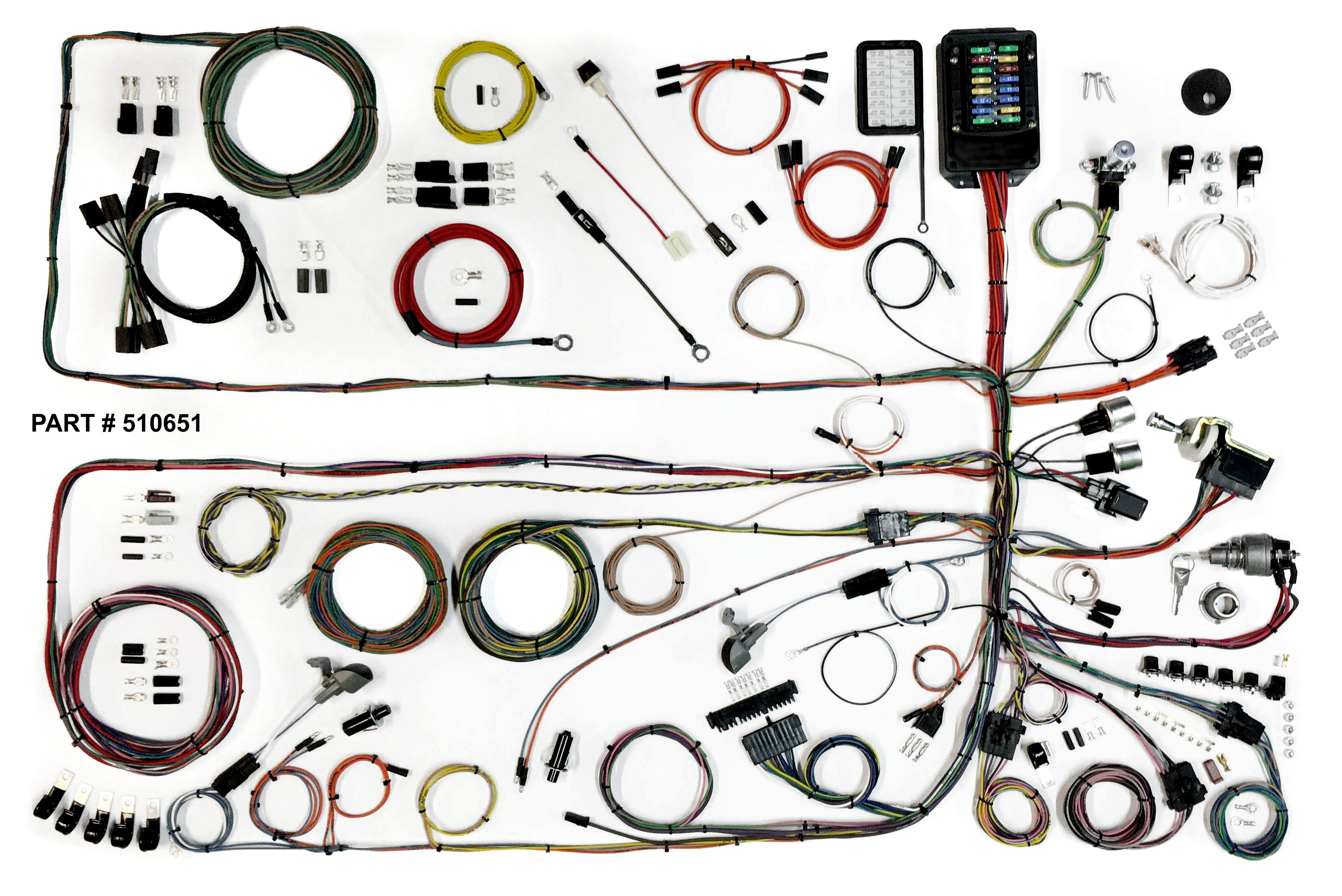 1957-60 ford truck restomod wiring harness system